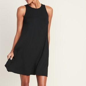 Old Navy Black Sleeveless Swing Dress Size M